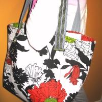 Scene in Rectangles - Lined Tote Bag