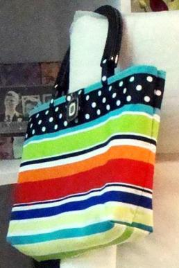 purse tote striped