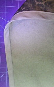 Wider Back Side of Bias Binding Caught in Sewing Line