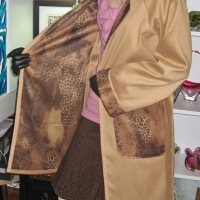 Lions and Leopards and Camels, Oh My!! Trench Coat Jungle