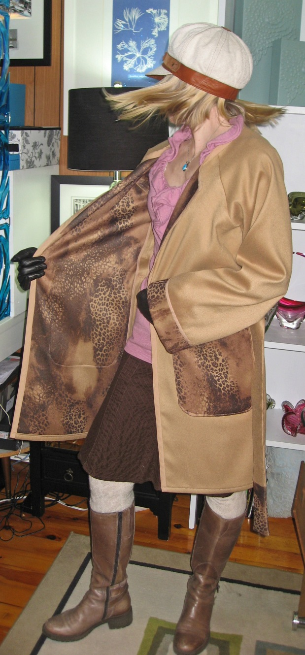 Animal Print on Inside of Trench Coat