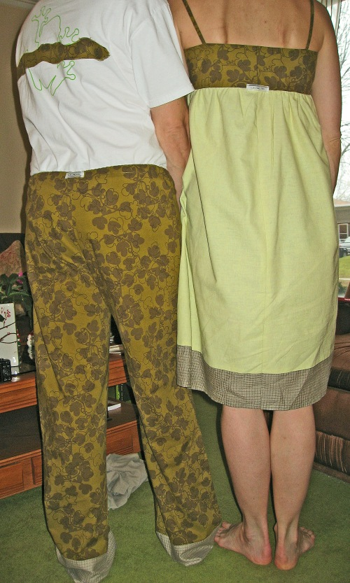 Pajamas and Nightgown in Coordinating Fabric