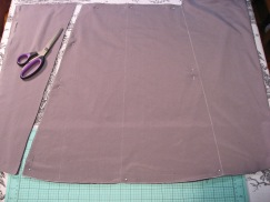 Cut Skirt Out - Waistband Measurement and Added Width to the Hem for Flare