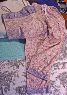 Matching Pajama Camisole Top and Bottoms