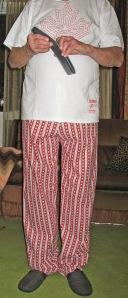 Red and White Stars Cotton Pajama Bottoms