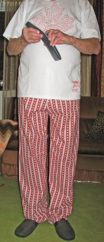 Red and White Stars Cotton Pajama Bottoms