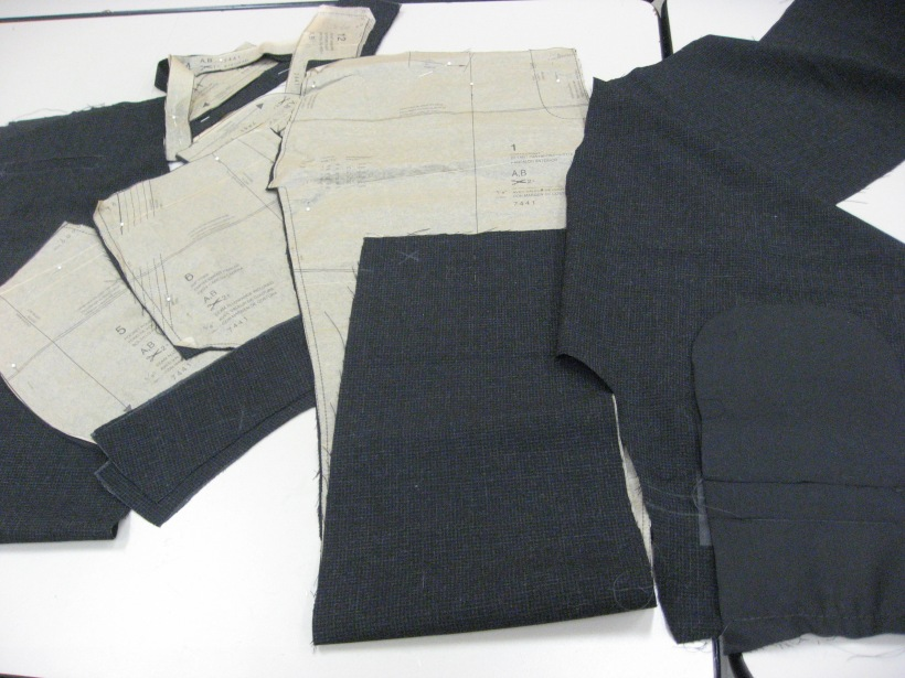 Pants Pattern Pieces Cut Out