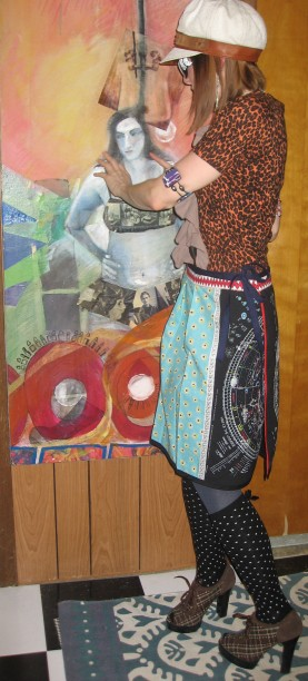 Bowie Skirt Full View, Wrap, Front, Ties, Back