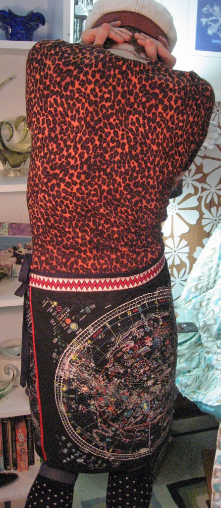 Bowie Wrap Around Skirt Back View