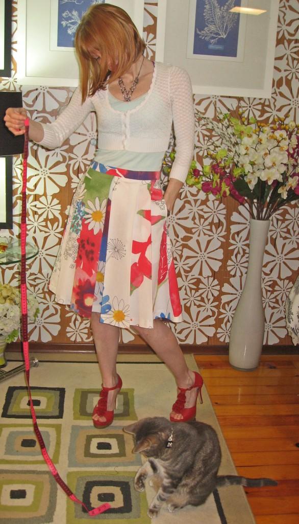 Ikea Fabric B5285 Skirt and Kitty