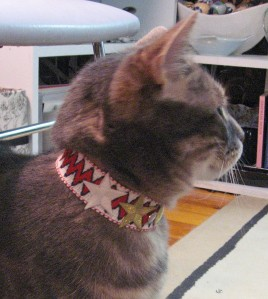 Kitty's Bowie Chevron Choker with Stars and Studs