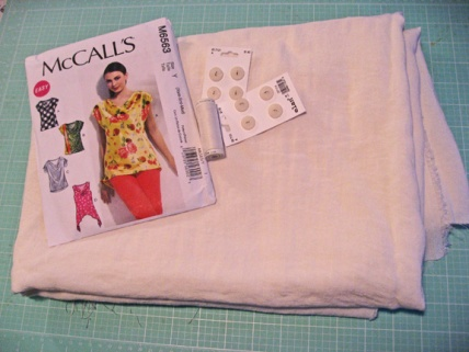 McCalls Pattern and Fabric