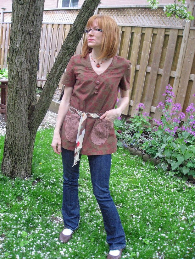 Tunic with Seashell Pockets and Belt