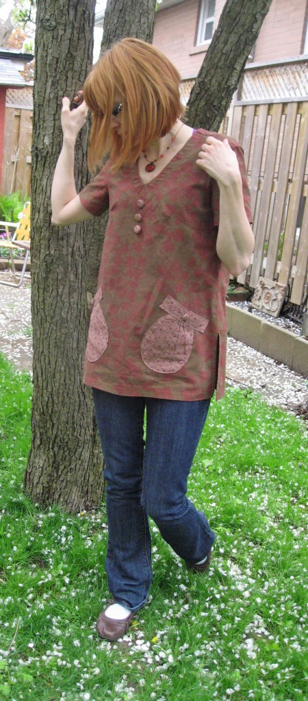 Tunic with Seashell Pockets