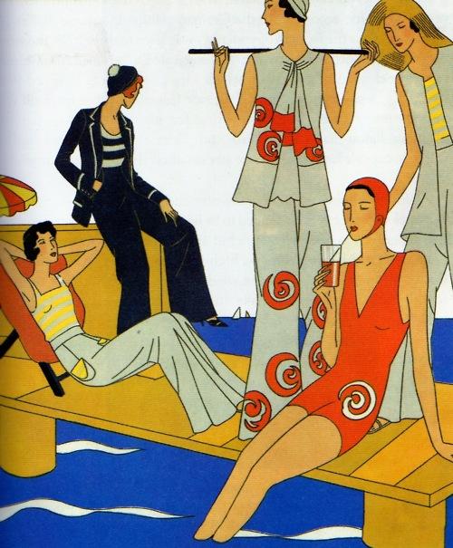 1920s Beach Pajamas Poster