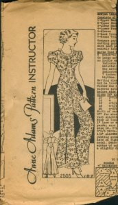 1920s Sewing Pattern