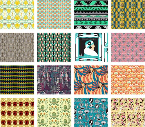 Art deco fabrics gjeometry for Art deco fabric
