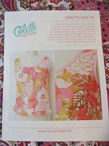 Colette Sorbetto Top Pattern