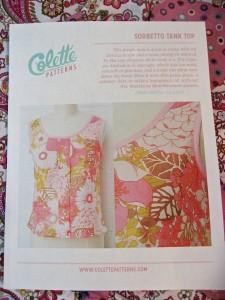 Colette Sorbetto Top Pattern