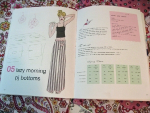 Downtown DIY Sewing Book PJ Bottoms Pattern