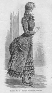 Misses' Polonaise Costume, from Butterick's Delineator, September 1883