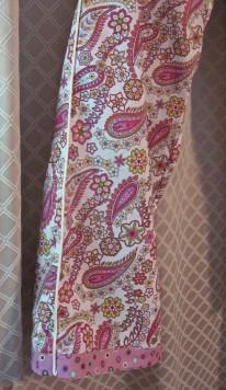 Sewaholic Tofino Frankenpatterned Pajama Piping and Contrast Hem Trim