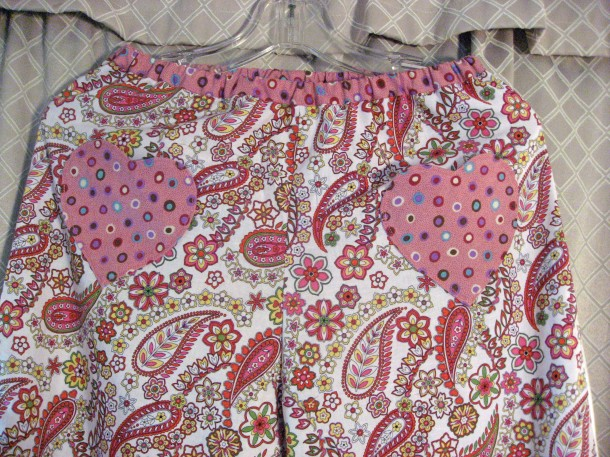 Sewaholic Tofino Frankenpatterned Pajama Waistband and Heart Pockets