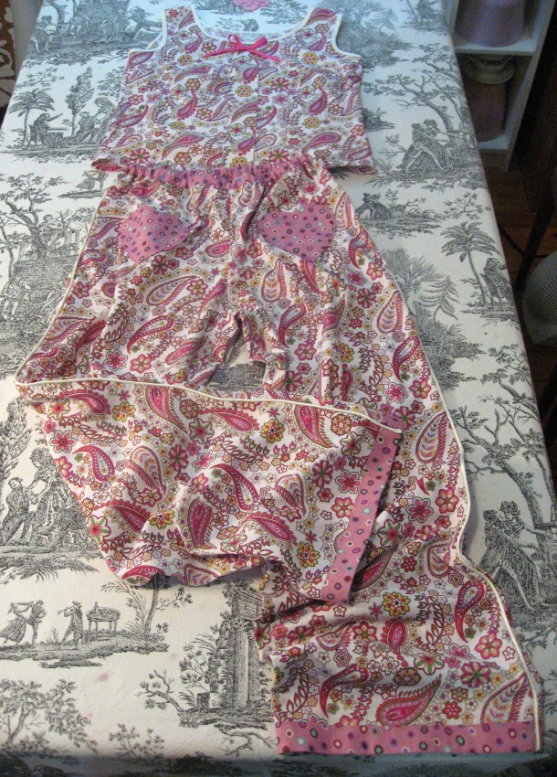 Sorbetto Top and Tofino Frankenpattern Bottom Pajamas