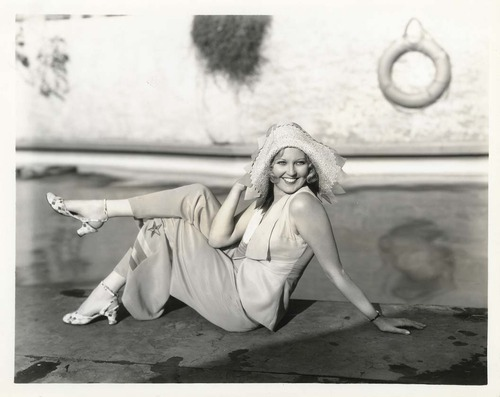 Thelma Todd in a late 1920s early 1930s Beach Pajama Ensemble