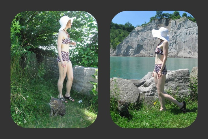 Jungle Boogie Swimsuit by the Lake