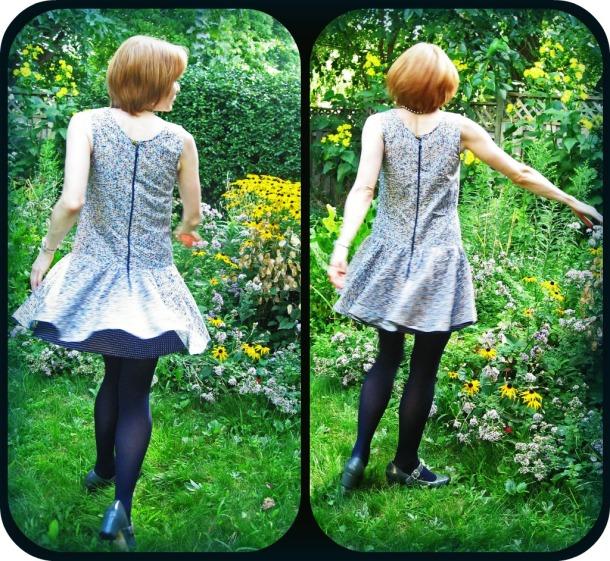 1920s Drop Waist Dress Back