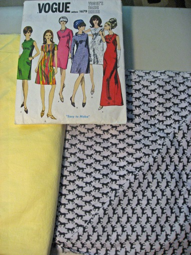 vogue 1960s vintage pattern and fabric