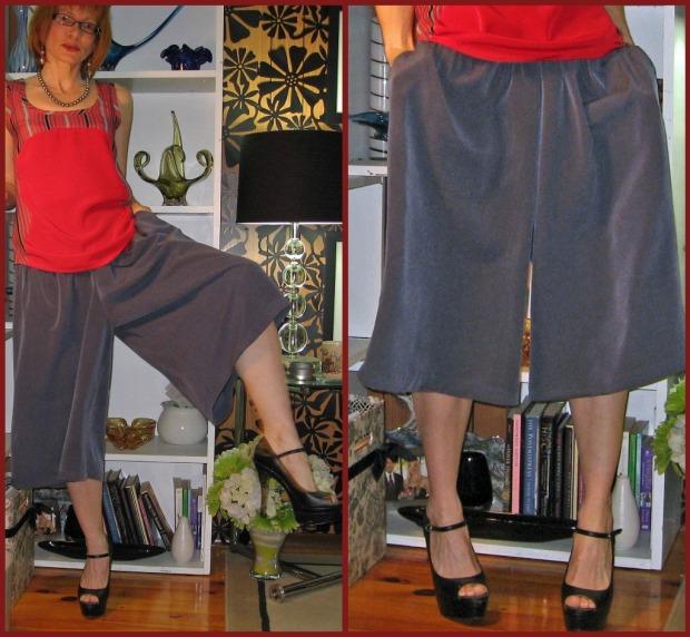 Culottes Gauchos Split Skirt