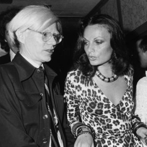 Diane Von Fustenberg and Andy Warhol.  source:  Harper's Bazaar