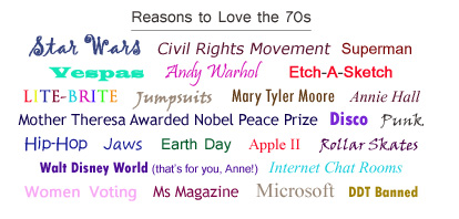 Reasons to Love the 70s.  Can You Think Of Any More?