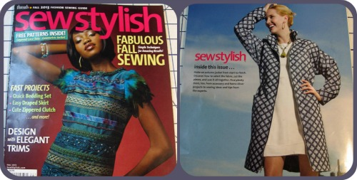 Sew Stylish Magazine Front and Back