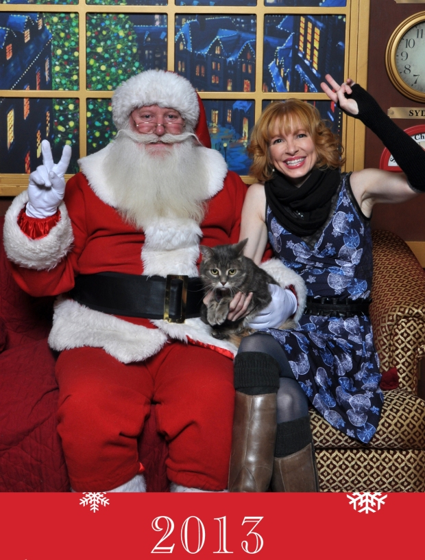 Kitty Visits Santa 2013