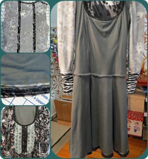 Gunmetal Dress Inside