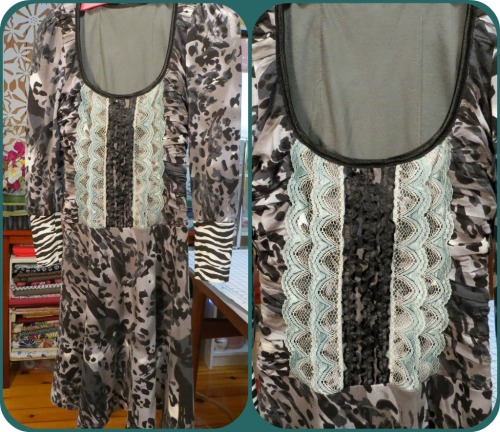 Lolita Patterns Gunmetal Knit Dress and Ruffled Bodice