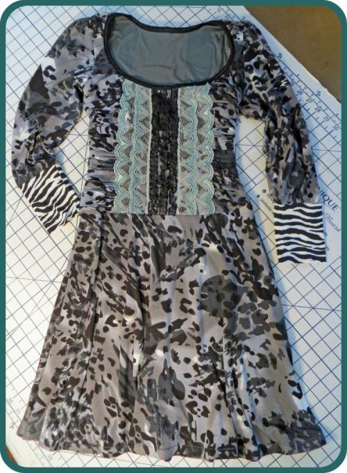 Lolita Patterns Gunmetal Knit Dress