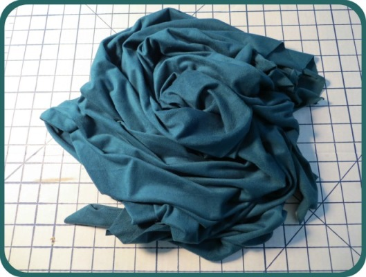 Teal Sueded Knit Microfibre