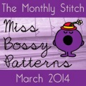 Monthly Stitch Miss Bossy Patterns Badge