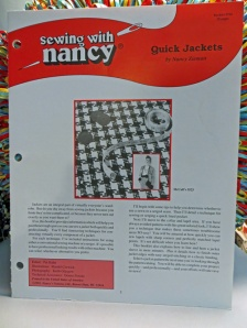 Sewing With Nancy Quick Jackets