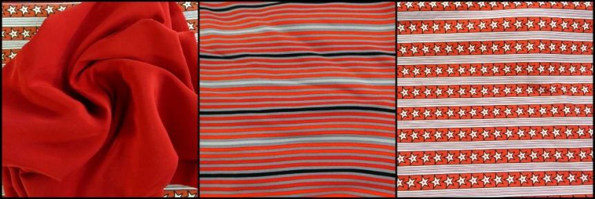 Three Red Themed Fabrics