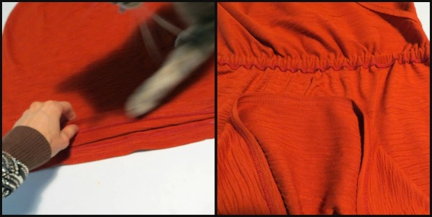 Check Out the Twin Needle Top Stitching!  And, I Used Matching Over-locking Thread, Booyaa!