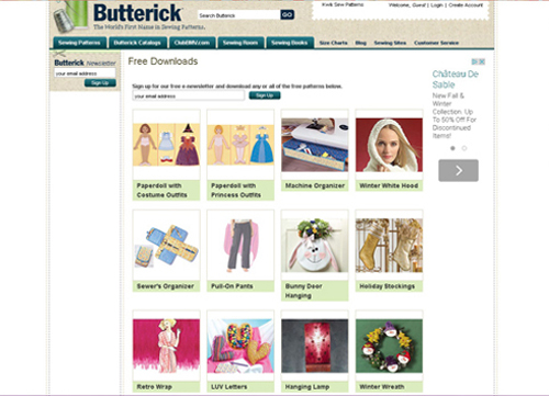 Butterick Free Pattern Downloads