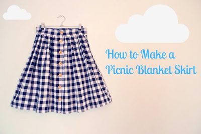 Picnic Blanket Skirt by Tilly and the Buttons