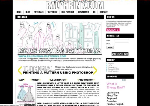 Ralph Pink Free Women's and Men's Patterns