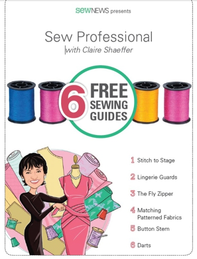 Sew News:  Sew Professional Guides with Claire Shaeffer